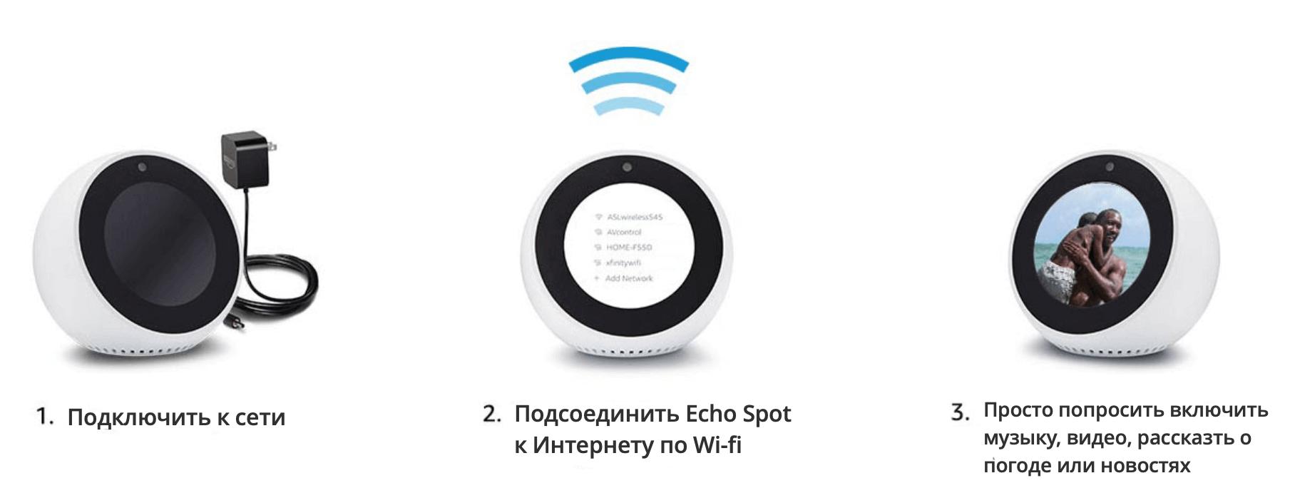 установка echo spot
